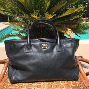 Chanel Cerf Executive Tote Leather. Authentic.